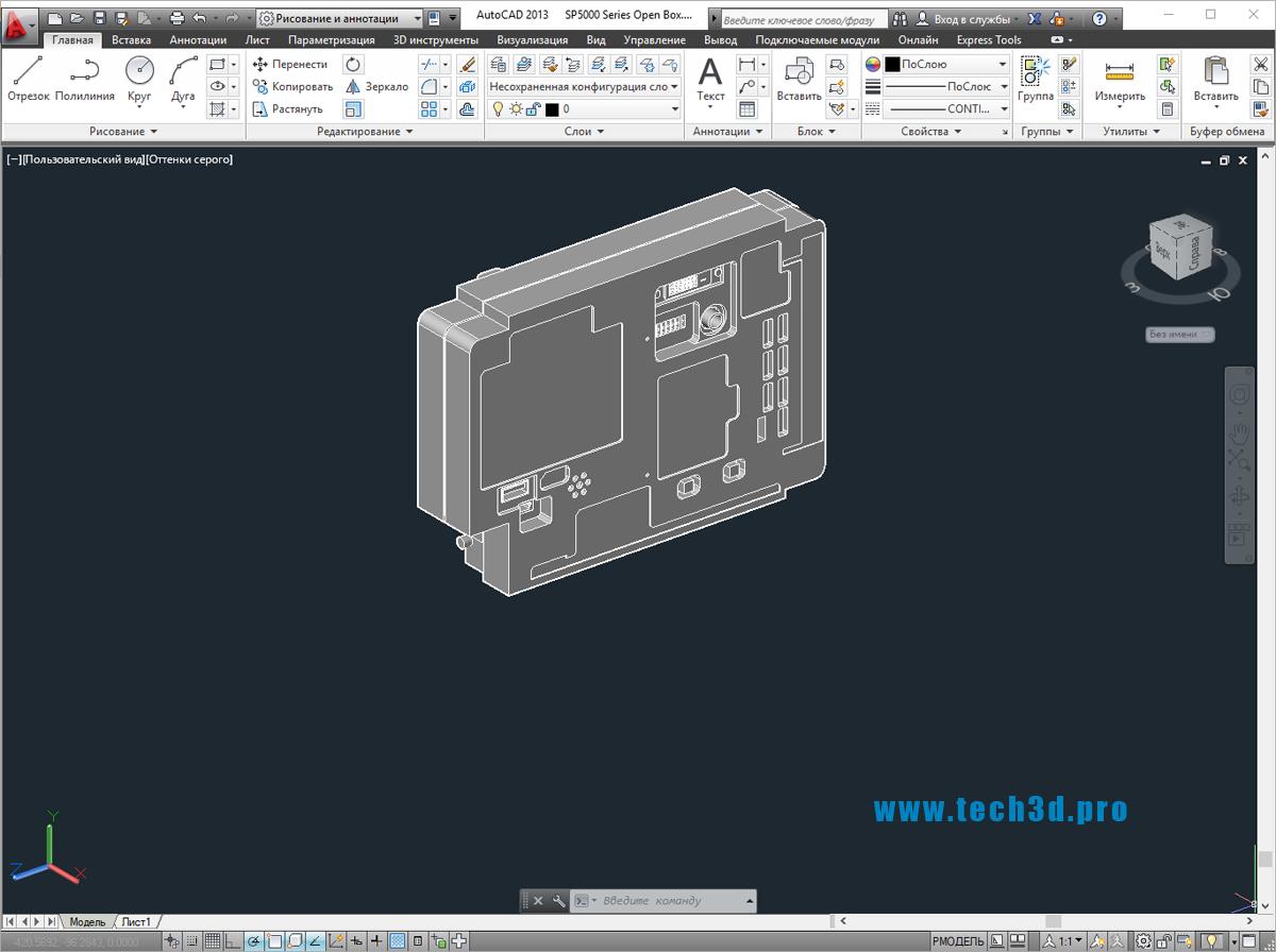 3D модель SCADA контроллера