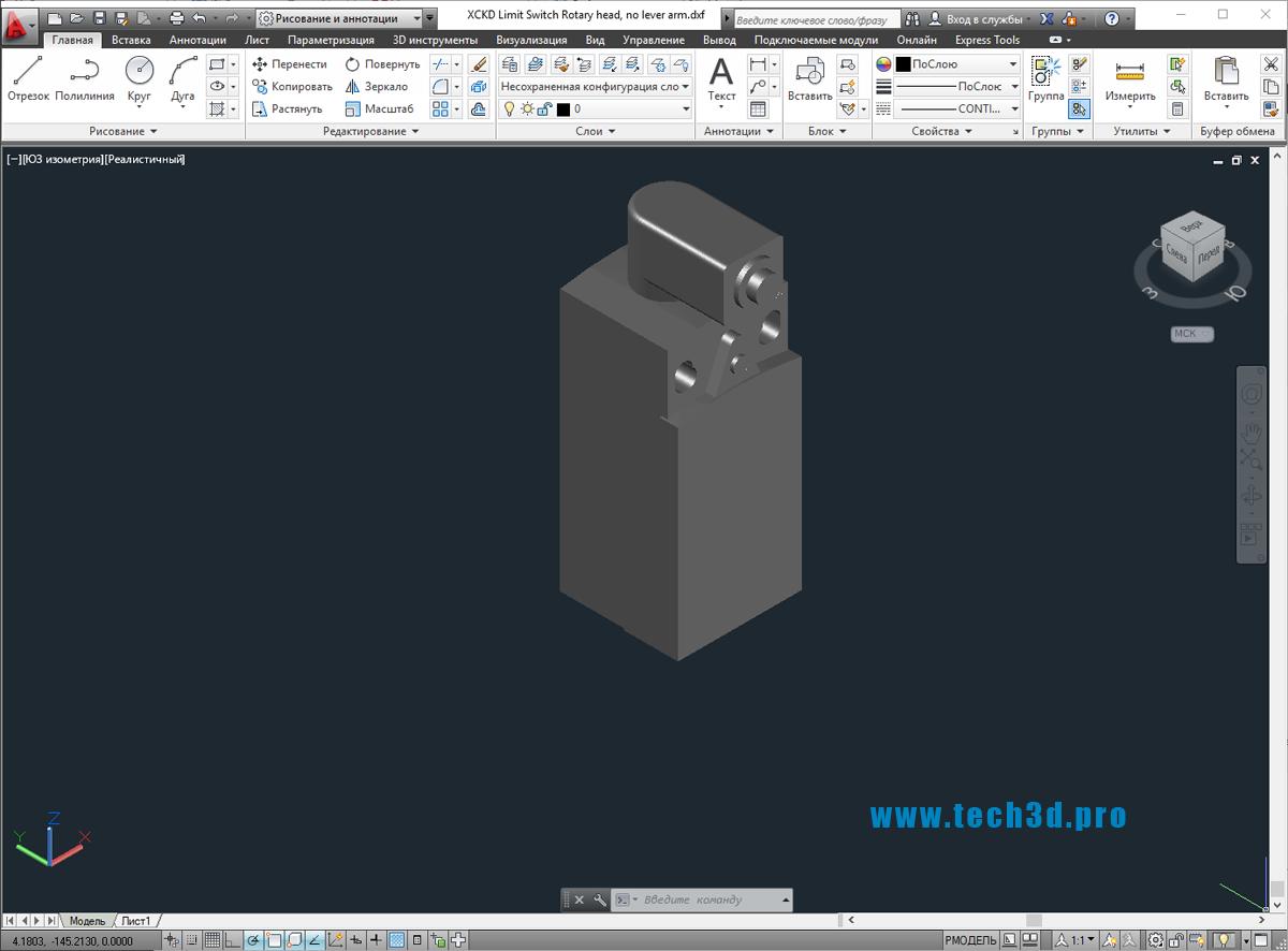 3D модель выключателя XCKD