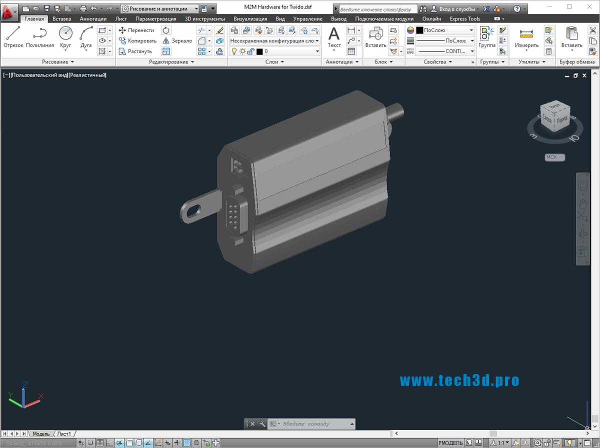 3D модель контроллера Twido