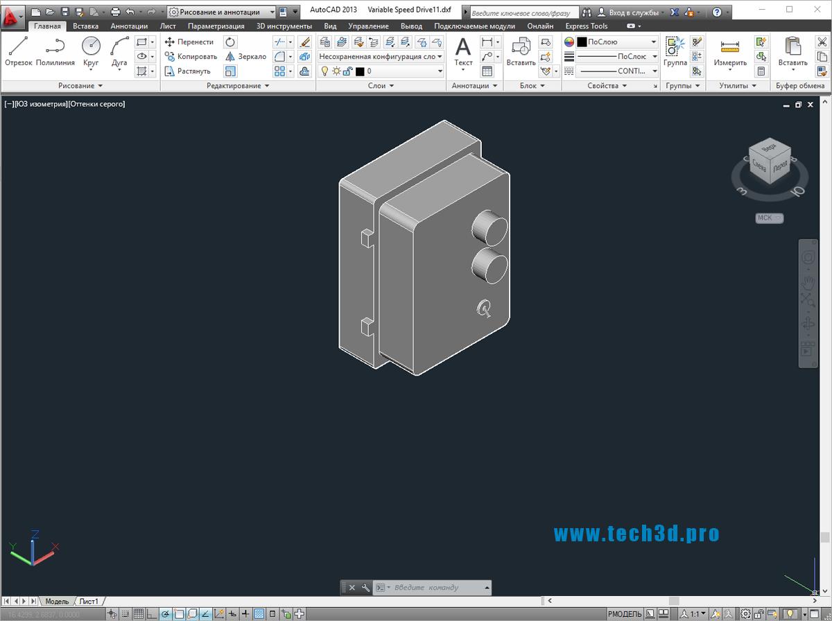 3D моделипостов управления двигателем