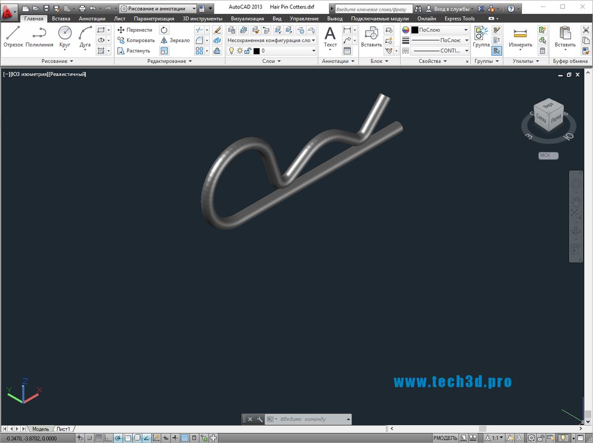 3D моделишплинтов пружинных игольчатых