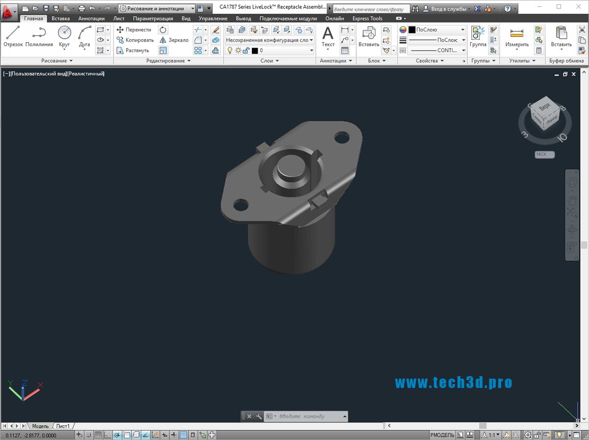 3D модели крепежа LiveLock