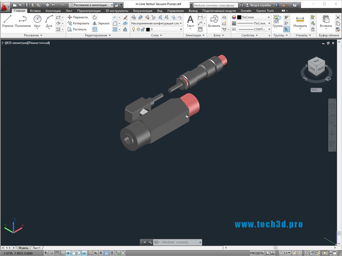 3D модели насосов Вентури