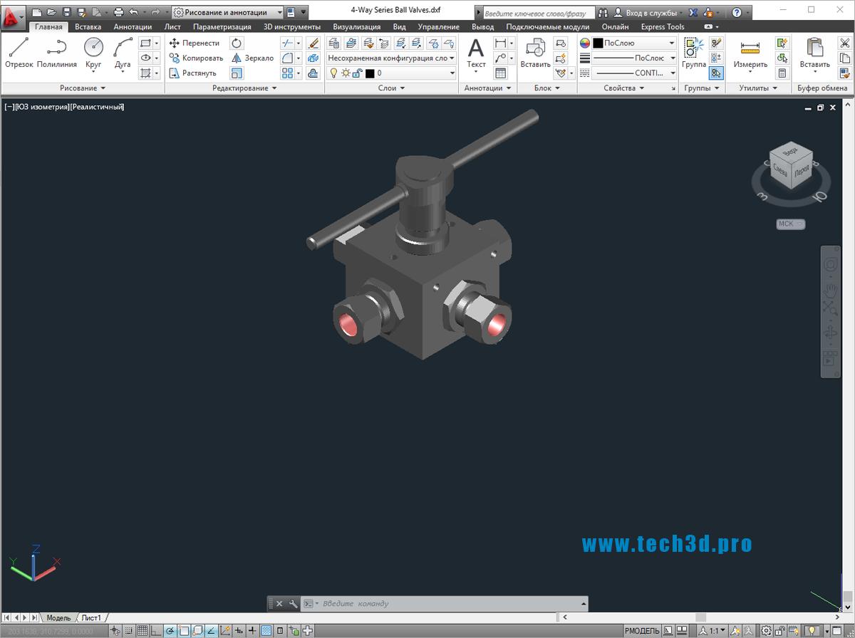 3D моделичетырехсторонних кранов