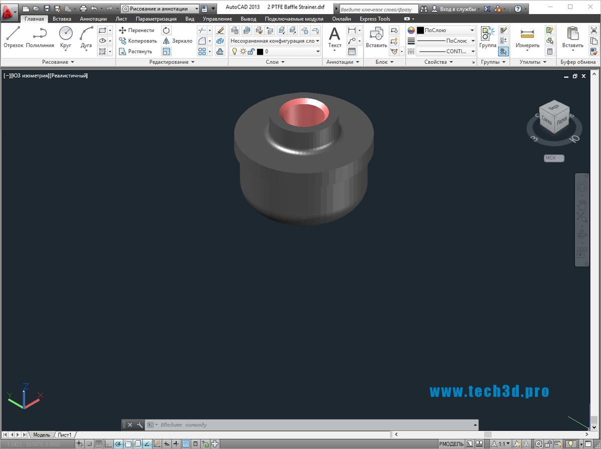 3D модель фильтра дефлектора