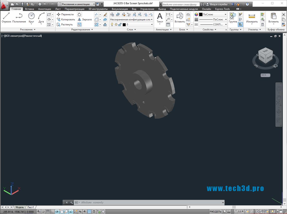 3D модели звездочки цепного колеса