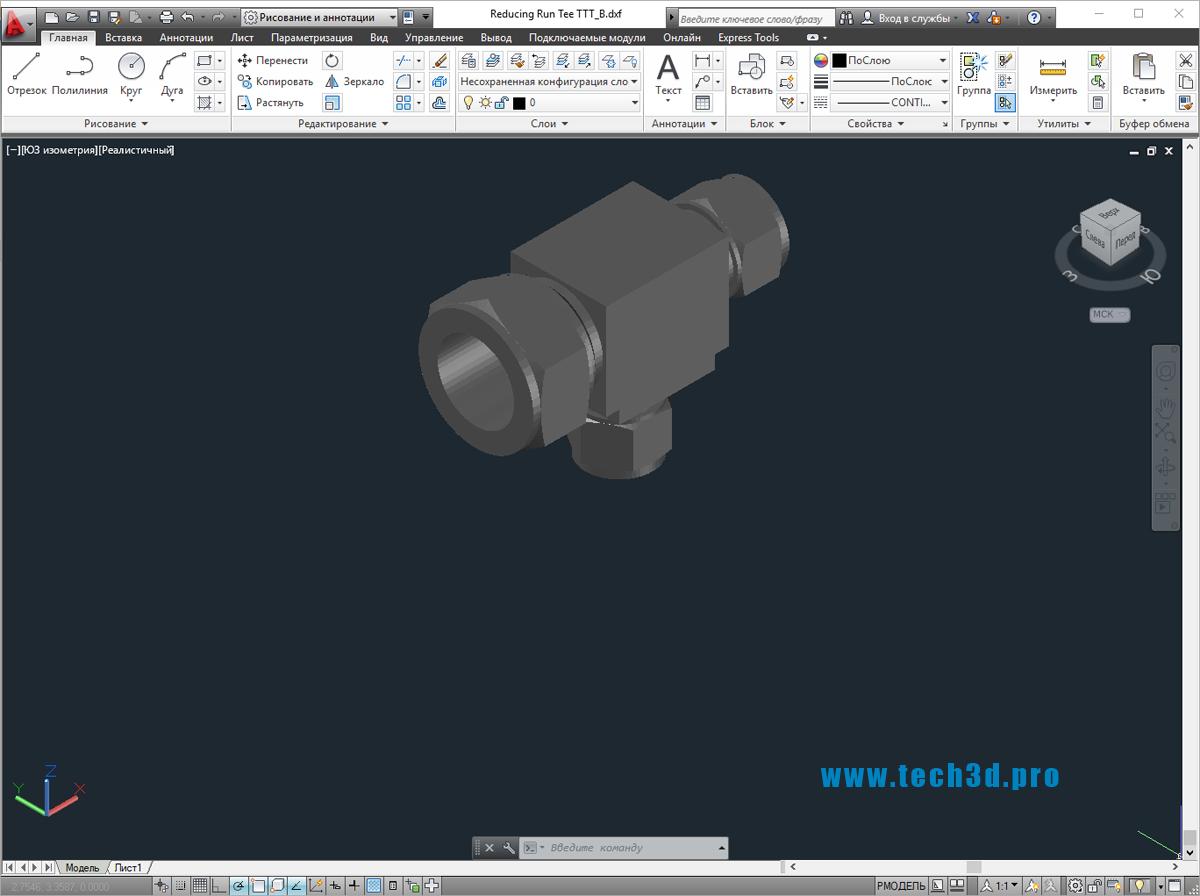 3D модели тройников ПП редукционных