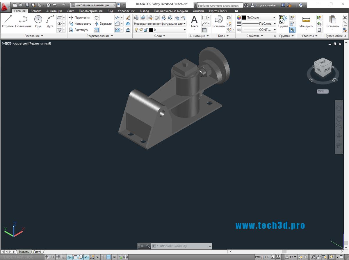 3D модель переключателя SOS