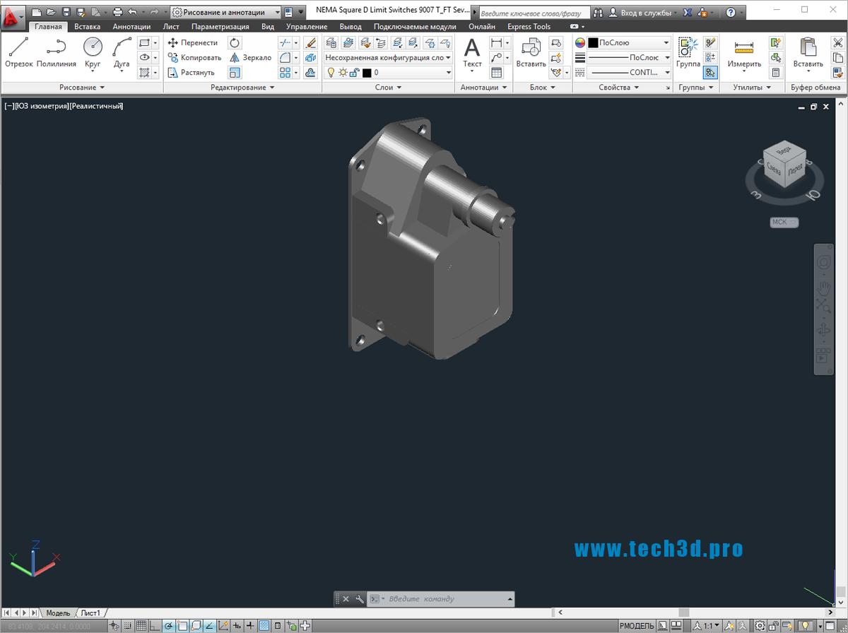 3D моделипереключателей Square