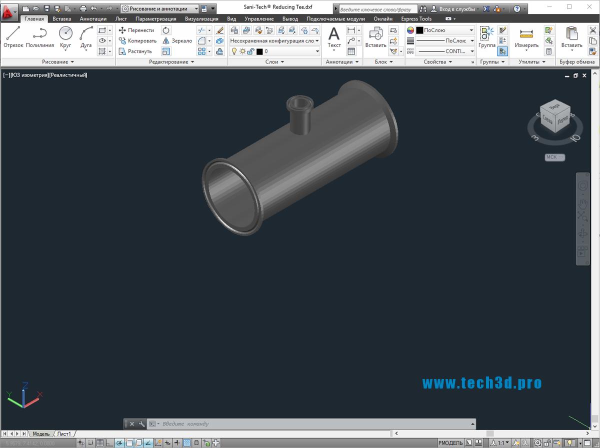 3D модели тройников канализационных ПП