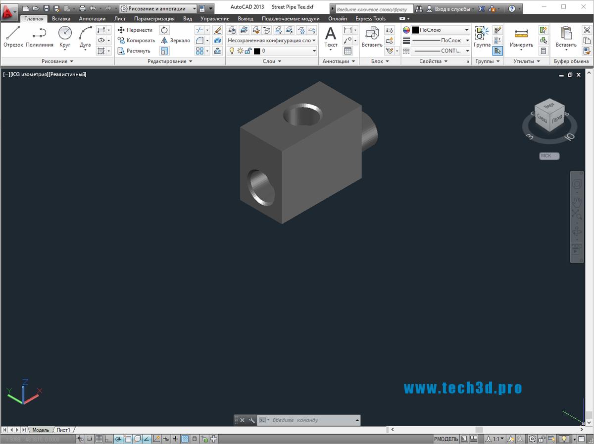 3D модели полипропиленовых муфт тройников