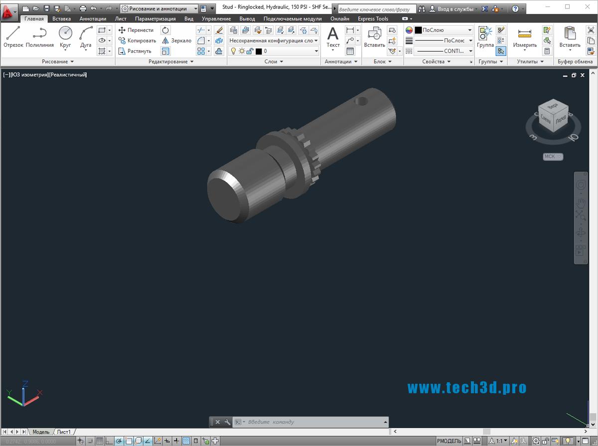 3D модели штифтов с отверстием под шплинт