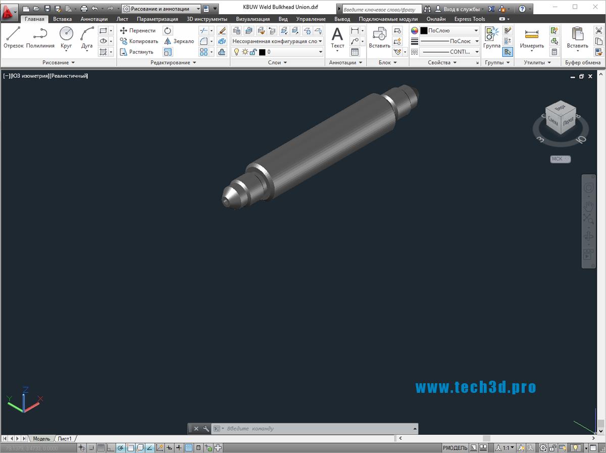 3D модели штуцеров стальных приварных