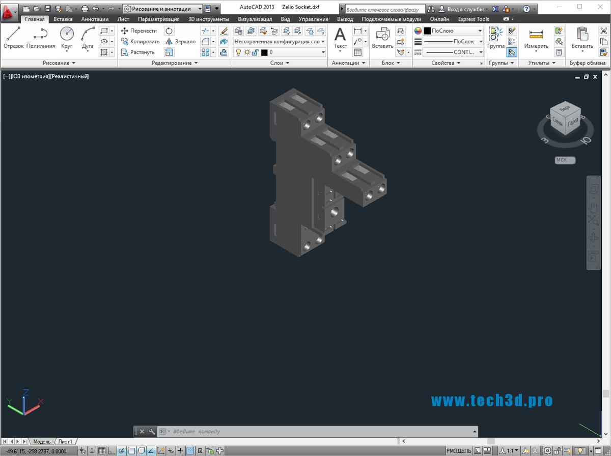 3D модель интеллектуального реле Zelio