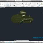Модель танка AMX