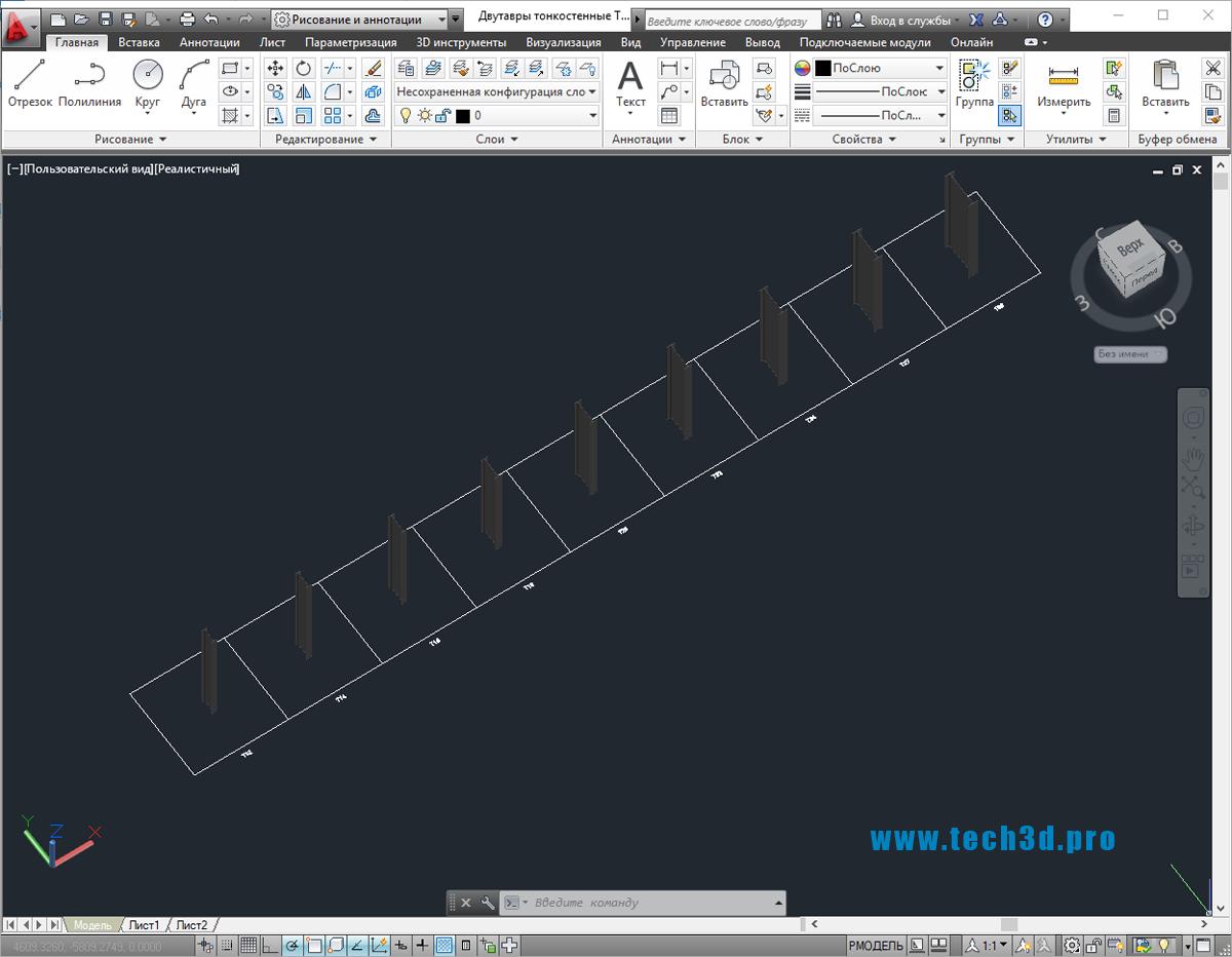 3D модели двутавров тонкостенных ТУ