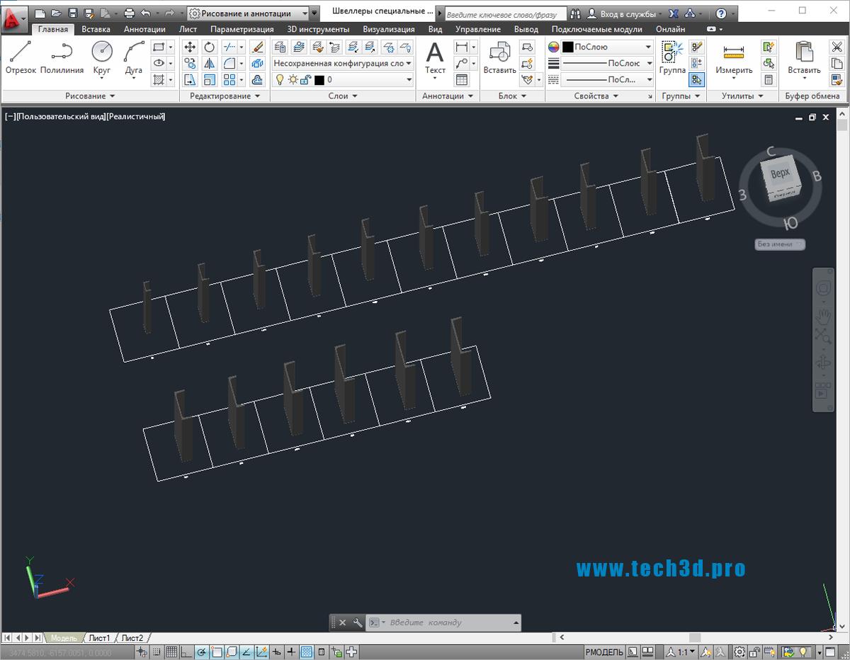 3D модели швеллеров специальных по ГОСТ 8240-97