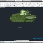 Модель танка Т50