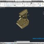 3D модель сверлильного станка