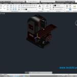 3D модель фрезерного станка