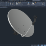 Спутниковая антенна с кронштейном