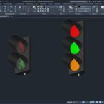 Светофор дорожный 3D
